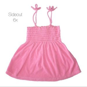 Sideout Pink Velour Dress Coverup 6X